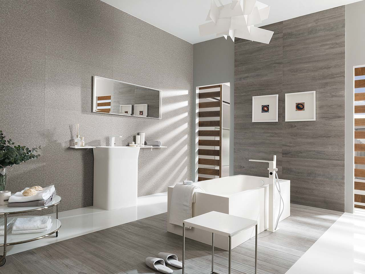 This hampton grey creates a modern fresh feel in this bathroom modern bathroom with porcelanosas elegant ceramic tiles floor tiles par ker hampton grey crystal floor white wall tiles par ker hampton grey dailygadgetfo Image collections