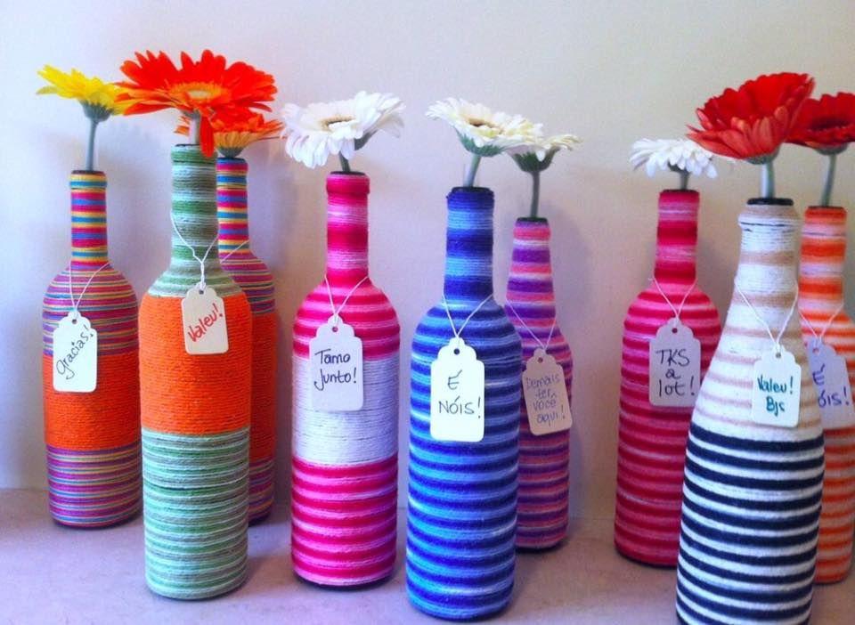 uno de los elementos mas sencillos y econmicos para decorar una habitacin son las botellas de - Como Decorar Botellas De Vidrio