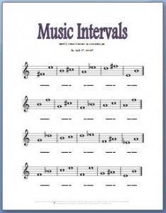 Free music theory worksheets for practicing music intervals ...