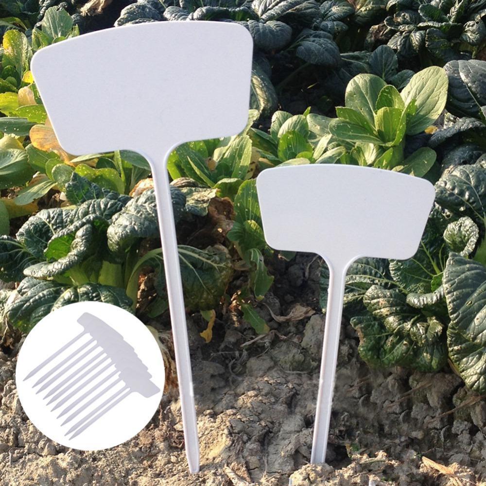 10pcs T Type Plastic Nursery Garden Plants Labels Flower Tag