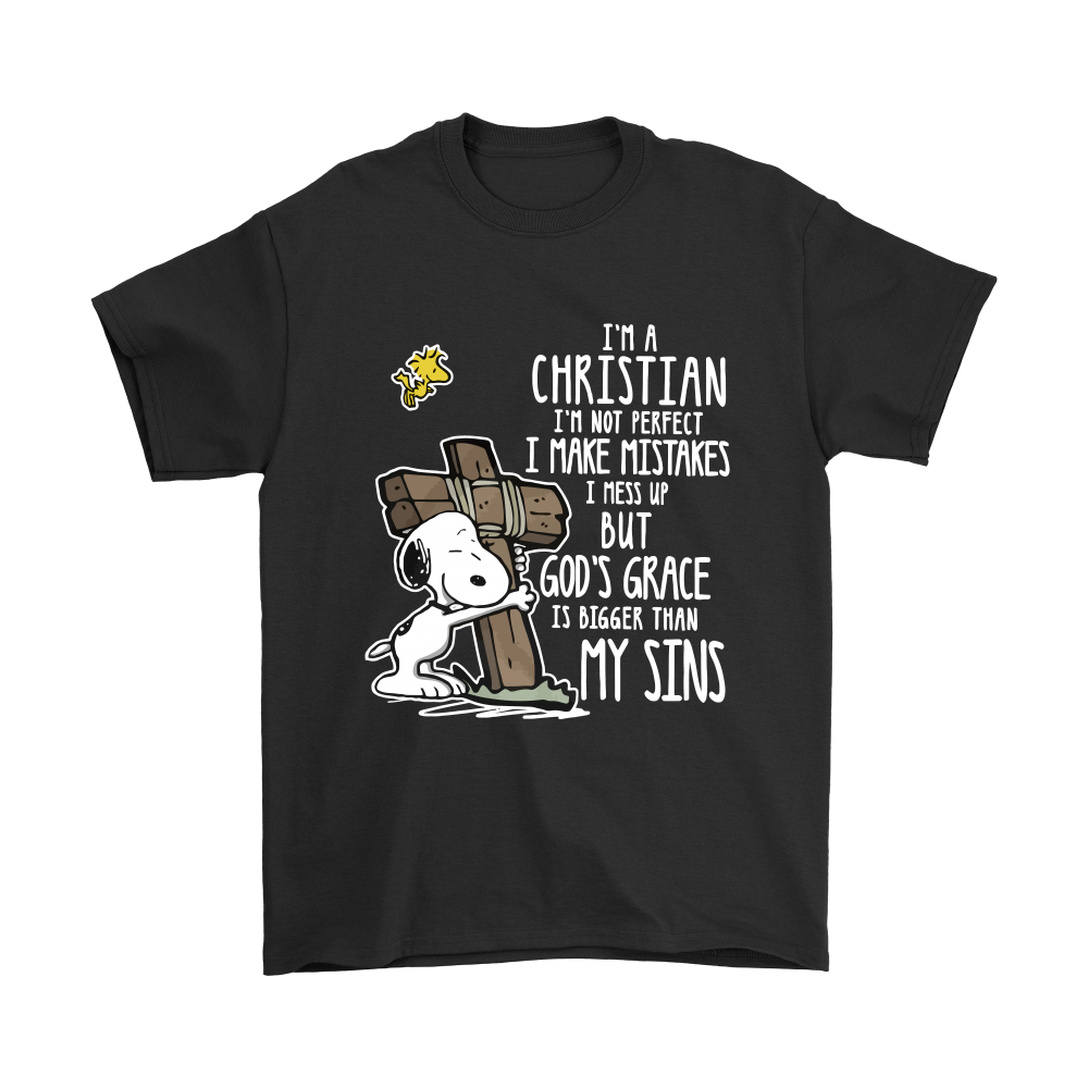3f9c2dff I'm A Christian I'm Not Perfect God's Grace Snoopy Shirts | Charlie ...