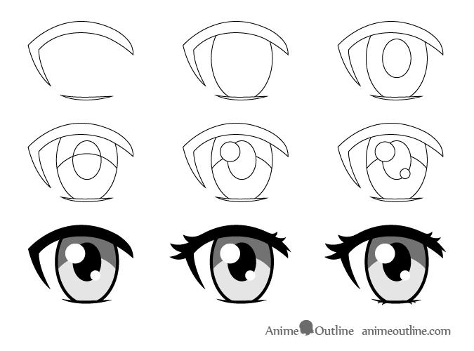 Female Anime Eye Drawing Step By Step Female Anime Eyes Girl Eyes Drawing Anime Eye Drawing