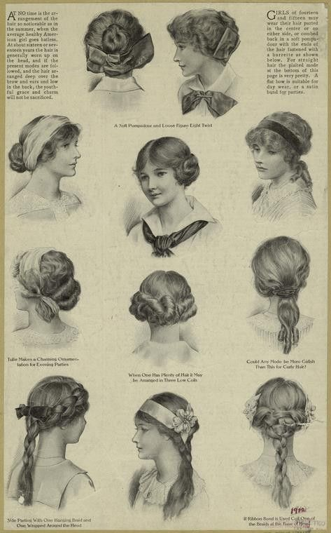Late 19th early 20th century hair styles.