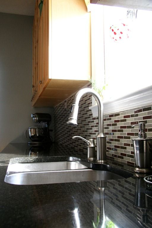 The Moen Aberdeen faucet installed by Susan of doughmesstic.com ...