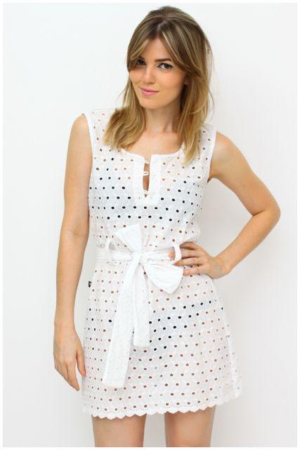 271c4fd314 vestido de lese branco casual