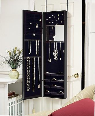 Details about MIRROTEK JEWELRY CABINET ORGANIZER OVER DOOR ...