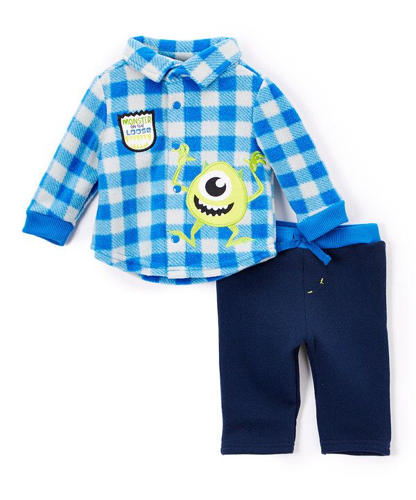 Look at this Gray Monsters Inc. Button-Up Top & Pants - Infant on #zulily today!