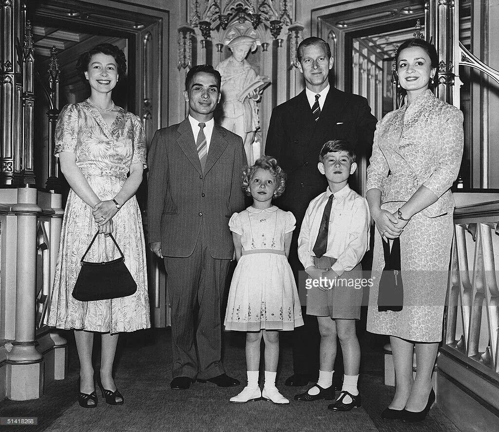 June 19 , 1955 King Hussein of Jordan and his wife Queen