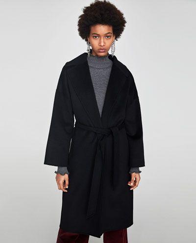 Image 2 de MANTEAU LONG AVEC CEINTURE de Zara | Long coat
