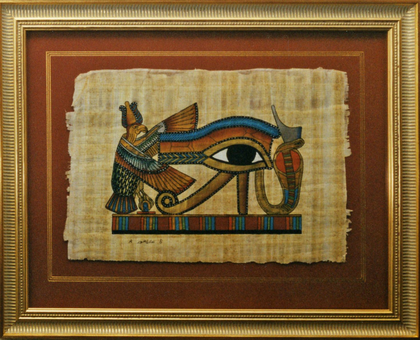 A float mounted papyrus | Assorted Framing | Pinterest | Decorating ...