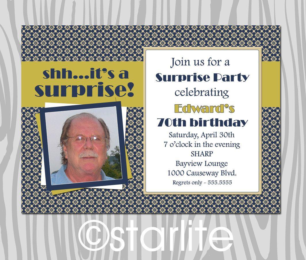 70th Birthday Party Invitation Wording Birthday Pinterest