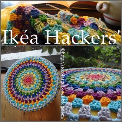 Ikéa Hacker\'s - Mandala pour Tabouret Tuto DIY | Decken, Kissen und ...