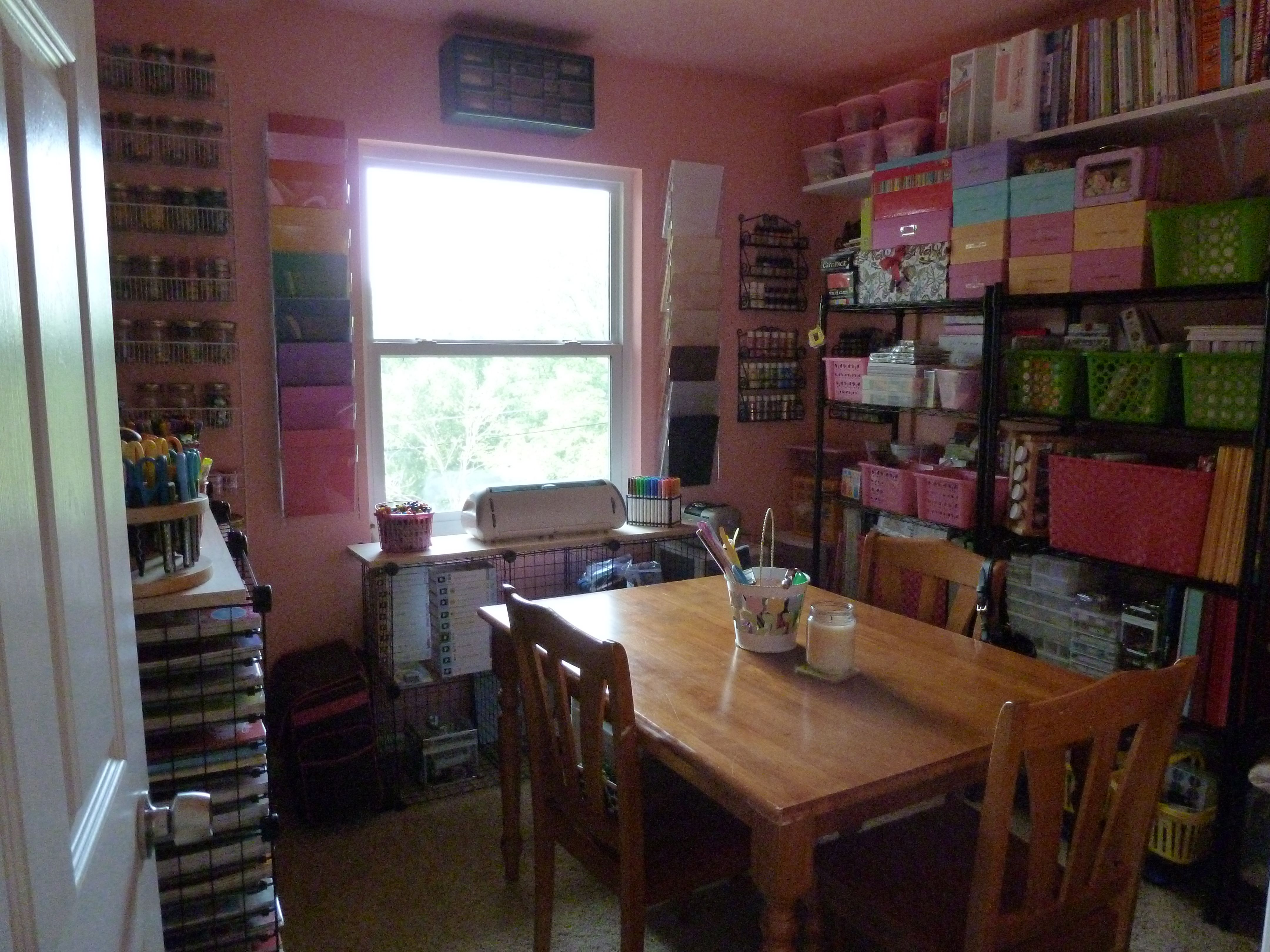 Craft Room. Everything In Its Place And Within Reach. 9x9 All About Being  SewScrappinCrafty