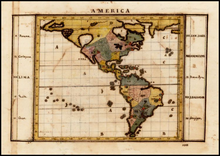 Antique map of the americas c1760 antique maps americas antique map of the americas c1760 antique maps sciox Gallery