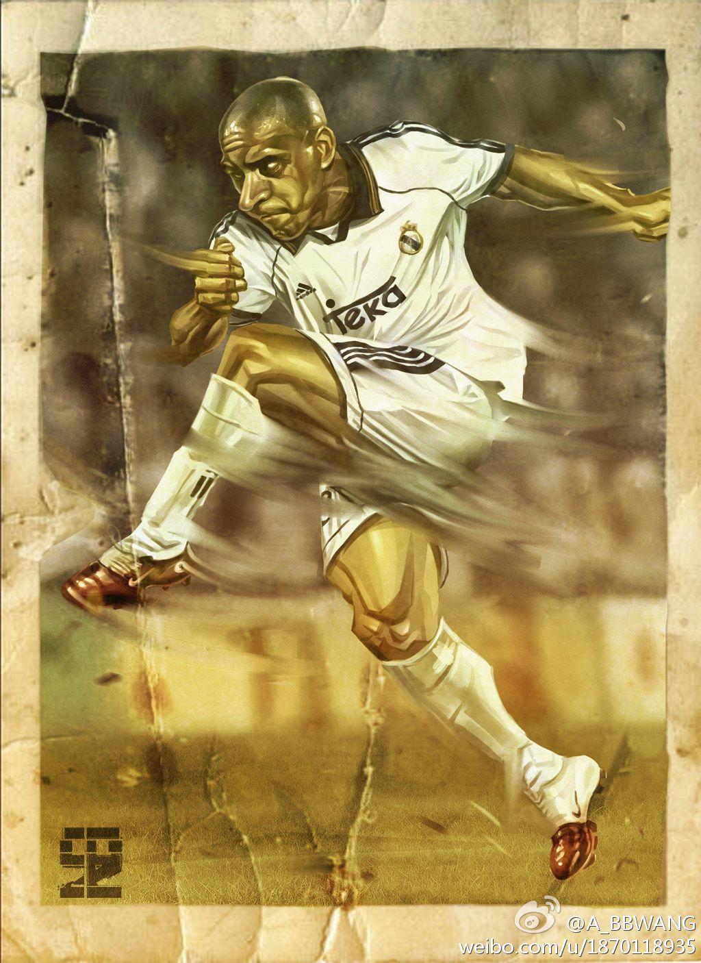 Roberto Carlos By A Bb On Deviantart Roberto Carlos Football Images Football Art