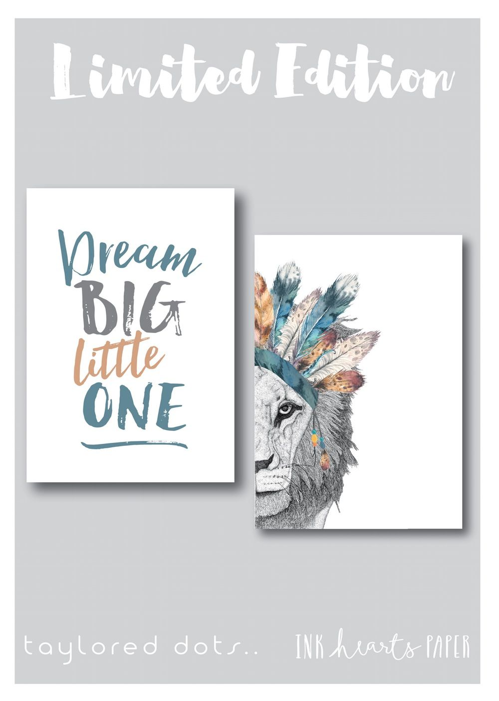 Limited Edition Leo The Lion Dream Little One Combo Nursery Artwork