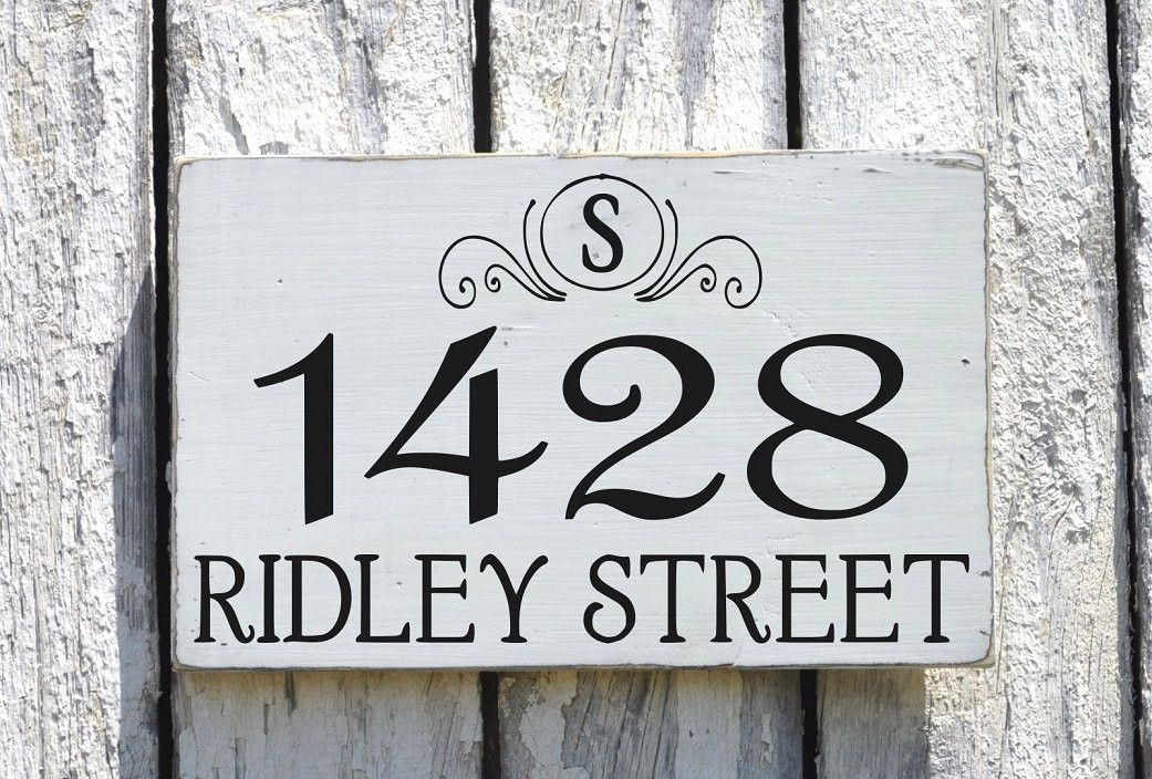 Custom Address Plaques Address Number Sign Board Outdoor House ...