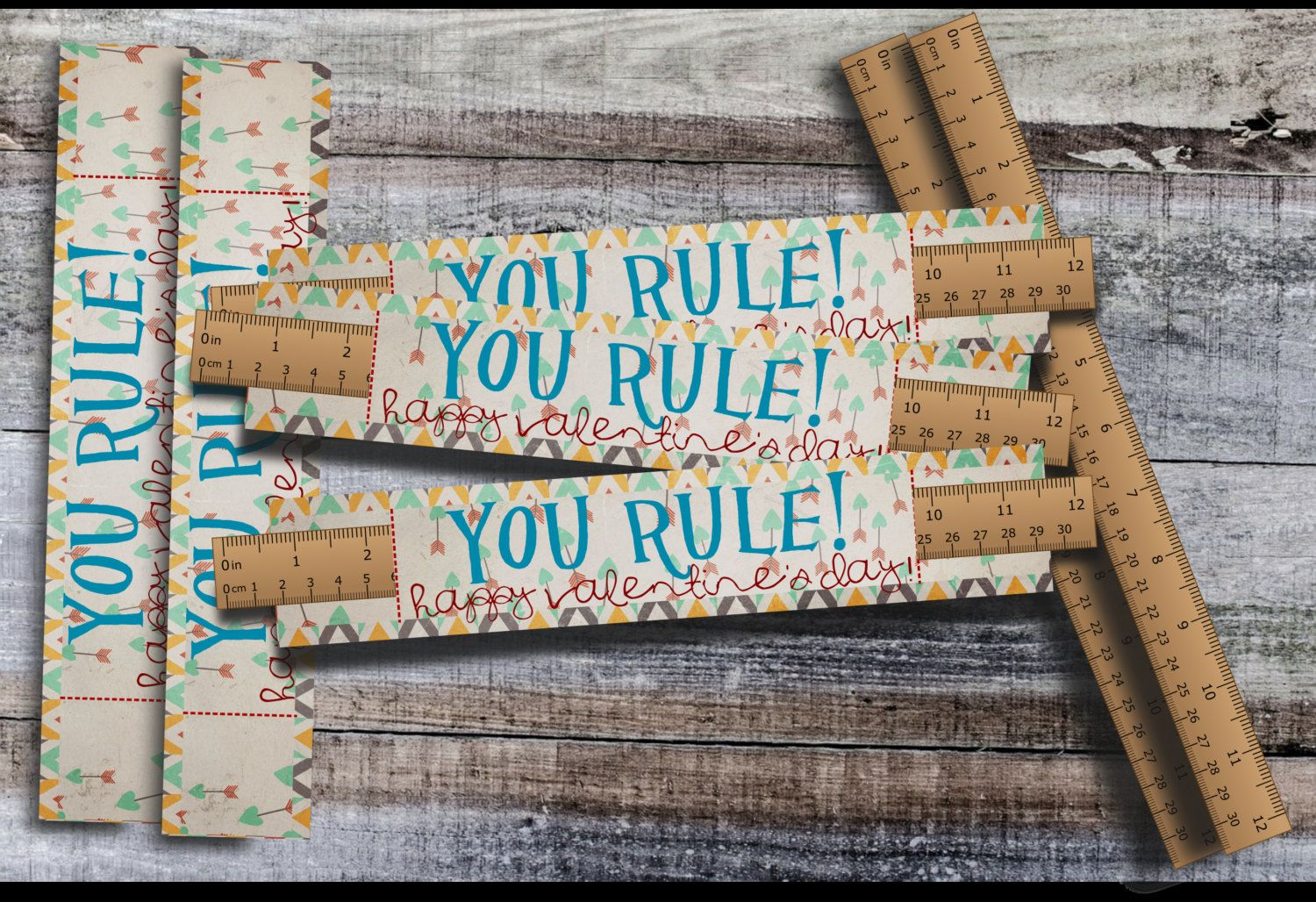 Printable You Rule Valentine Ruler Holder Valentine Non Candy