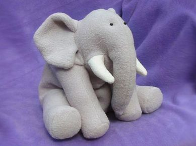 Ellie The Elephant Free Pattern Softies Sewing Animal Sewing