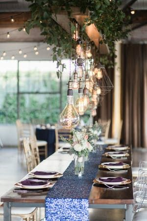 Style Dallas Wedding With Unique Lighting