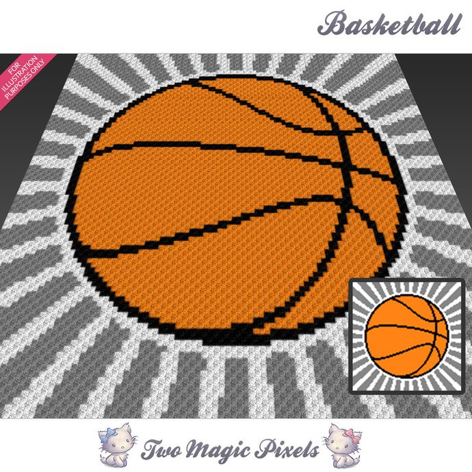 Basketball crochet blanket pattern