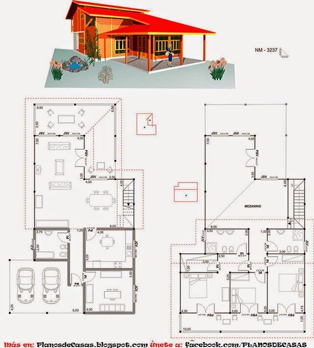 planos de casas prefabricadas casas peques pinterest
