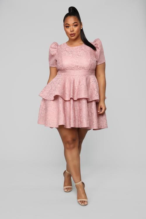 talla extra | tabria in 2019 | Plus size mini dresses, Mauve ...