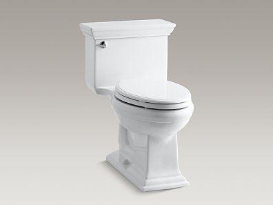 Kohler K 3813 0 Memoirs Stately Comfort Height One Piece Elongated 1 28 Gpf Toilet With Aquapiston Flush Technolo One Piece Toilets Kohler Toilet Toilet