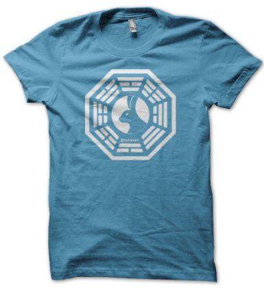 DHARMA Looking Glass Logo T-Shirt: Amazon.com: Clothing