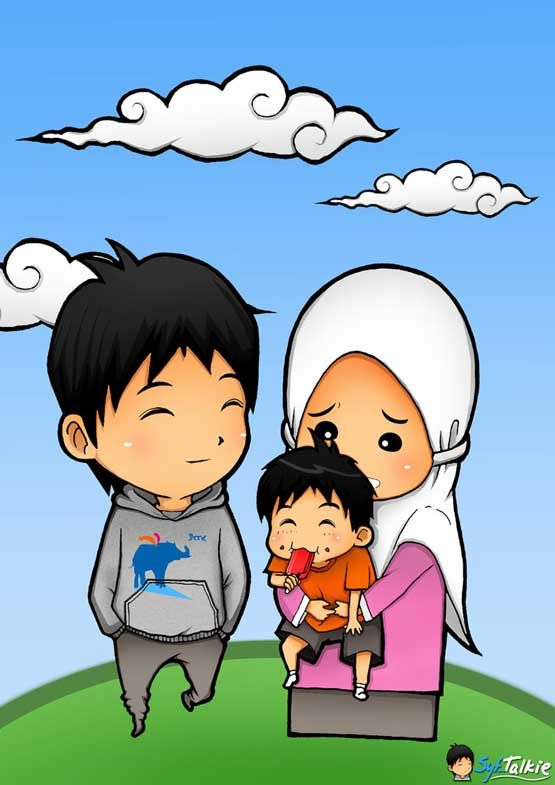 Gambar Animasi Kartun Islami Lucu Nisa Pinterest Wallpaper