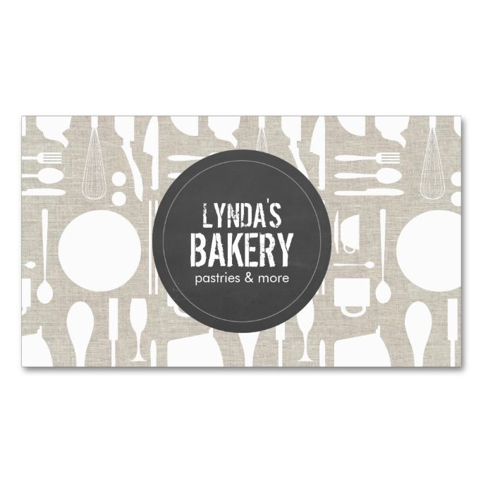 Tan Kitchen Collage With Rustic Gray Logo Bakery Double