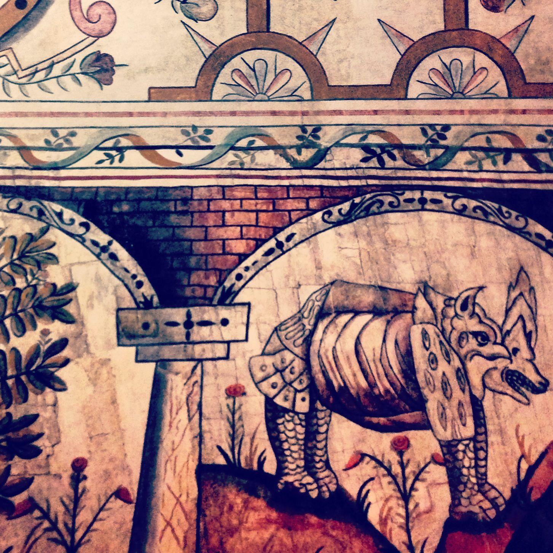 Pintura de la artesa en la casa del fundador de tunja