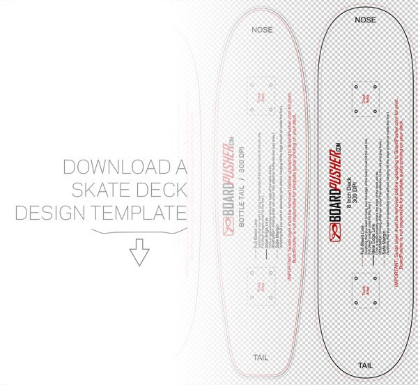 download a skate deck template to aid you in your skateboard graphic design process these