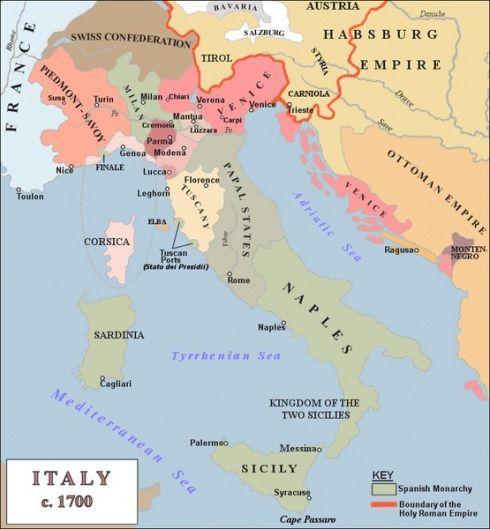Cartina Europa 1700.Italia 1700 Ca Mappe Antiche Mappe Storia