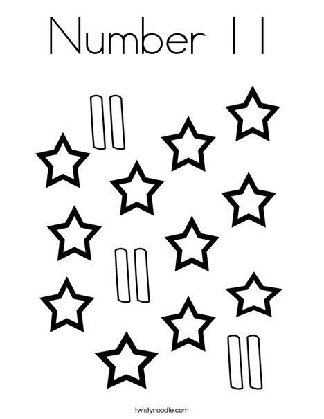 Number 11 Coloring Page Coloring Pages Coloring Pages To Print Coloring Pages For Kids
