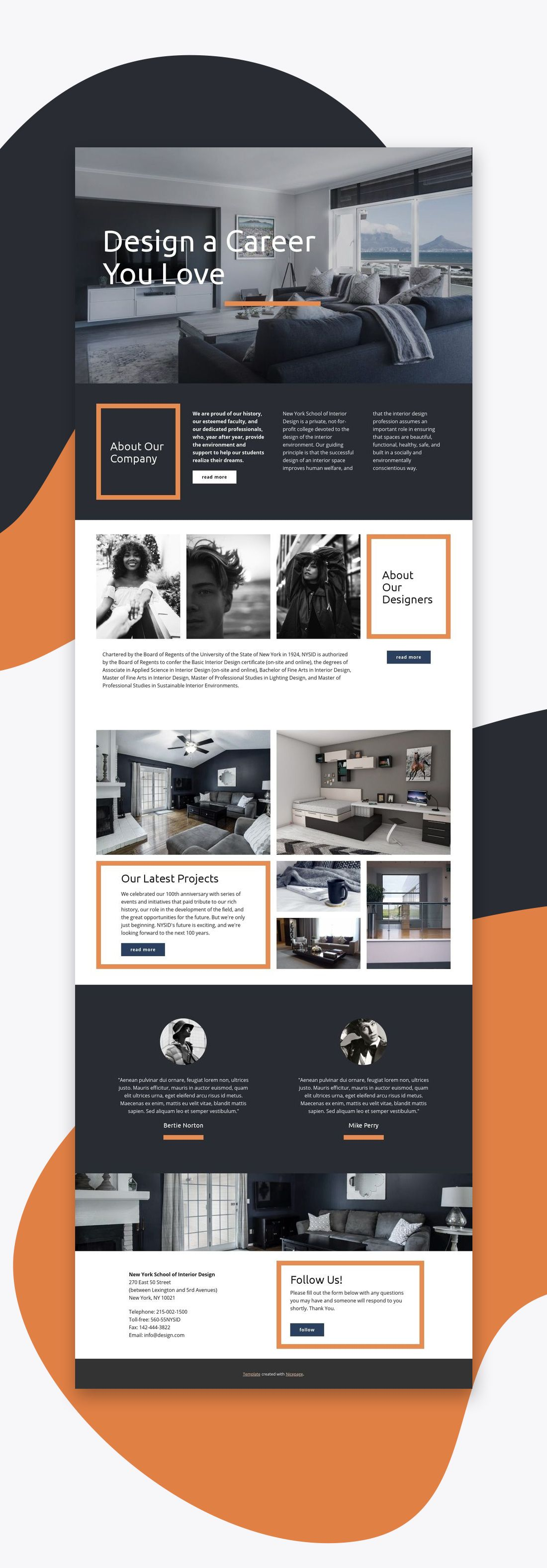 Download Templates For Free Nicepage Is A Free Mobile Friendly Website Builder Choose From 1000 Web Layout Design Simple Web Design Interior Design Website