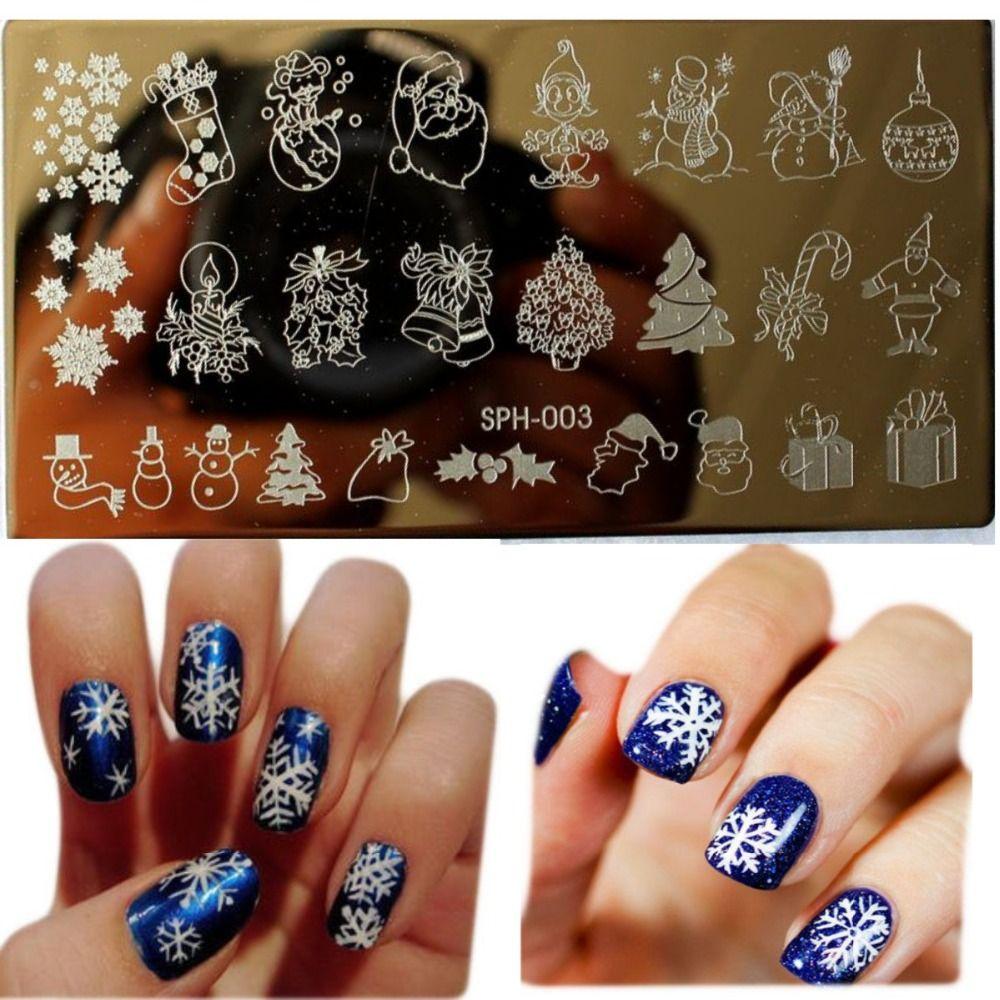 1Pcs Amazing DIY Halloween Nail Art Ideas Nail Art Stamp Template ...