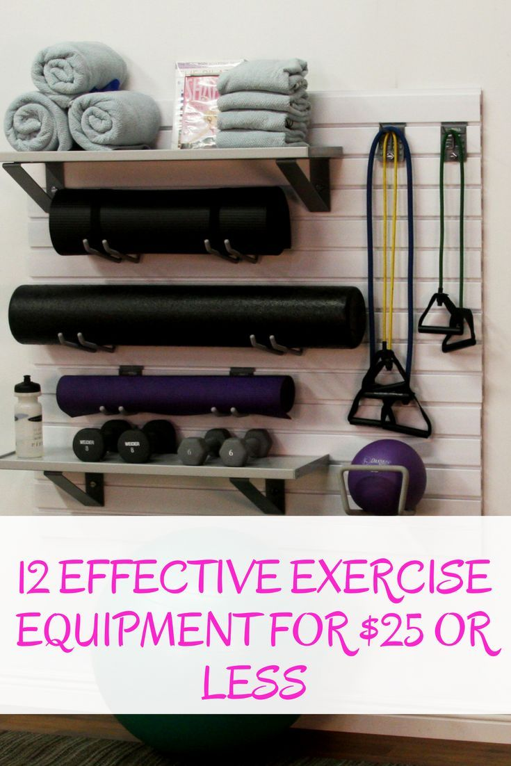Effective Exercise Equipment For $25 or Less | Home Training Gym #exerciseequipment