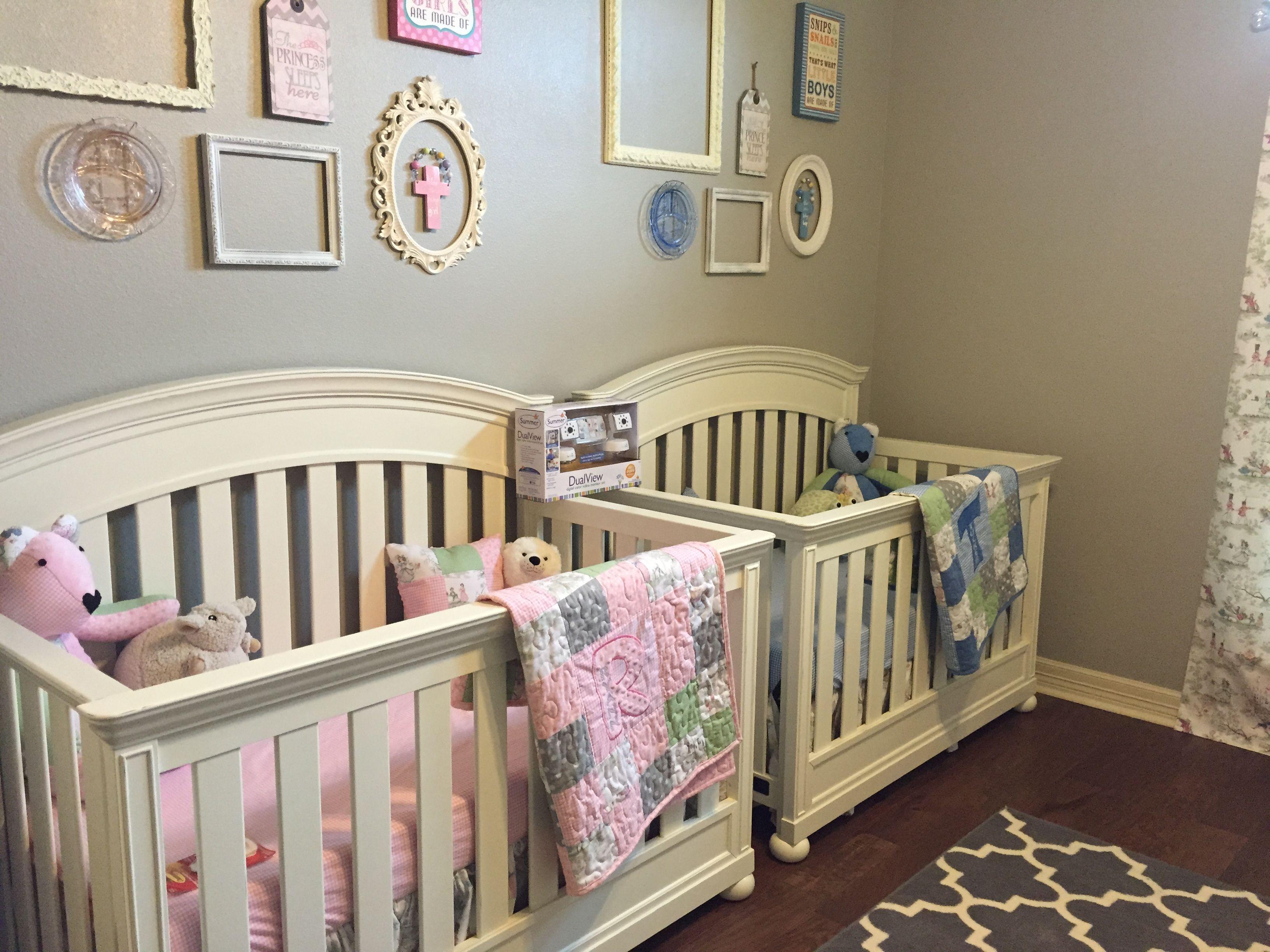 Boy girl twin nursery vintage nursery rhymes | Helton Twins | Pinterest