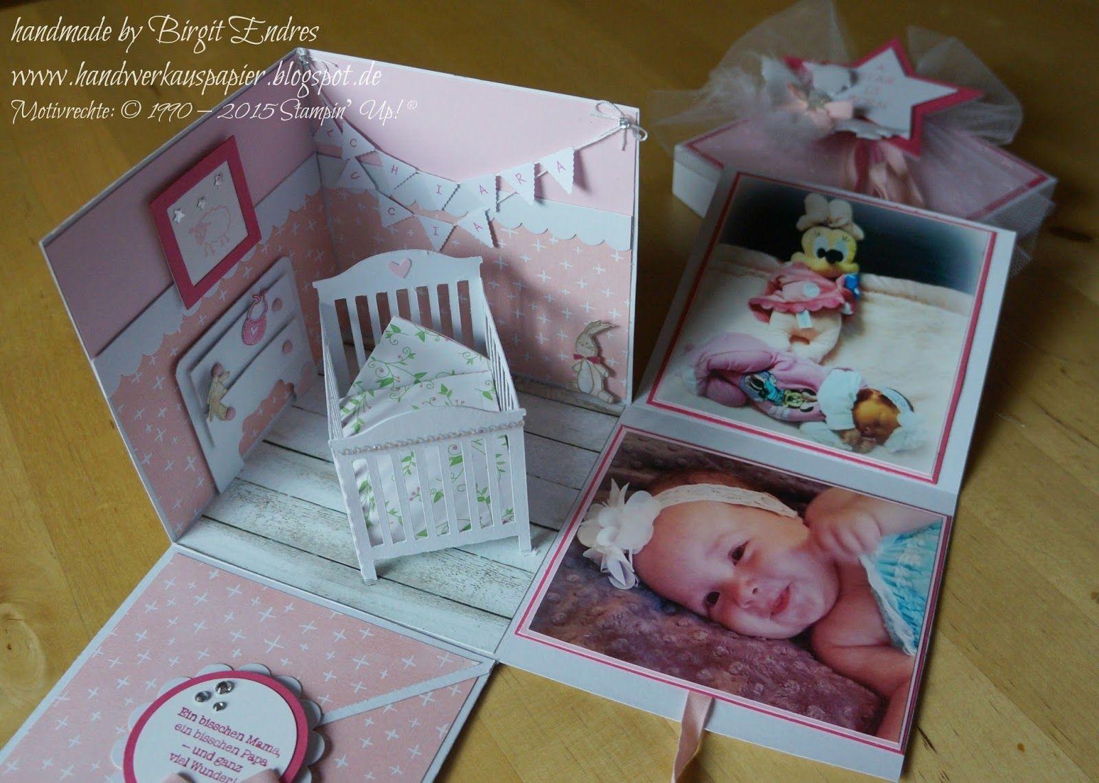 handwerk aus papier explosionsbox zur geburt karten explosionsbox pinterest box. Black Bedroom Furniture Sets. Home Design Ideas