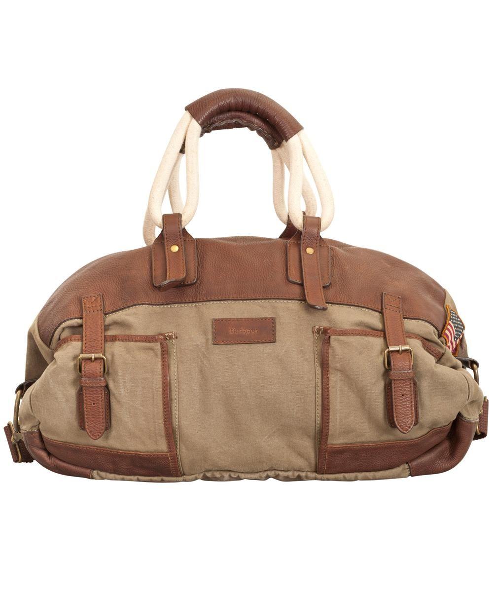 99622c4b3 Barbour Bullit Canvas Holdall Bag - Olive   Bags   Bags, Satchel ...