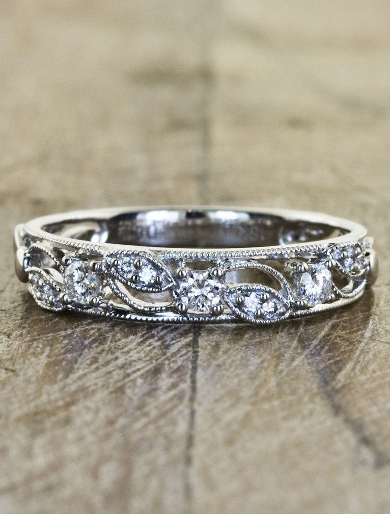 different yet simple wedding band style emeli this website has beautiful nature inspired engagement rings would love as anniversary band - Nature Inspired Wedding Rings