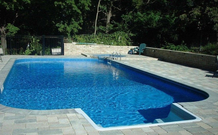 Inground Pool Designs For Small Backyards small inground pools for small yards inground pools with white permanent fence Inground Swimming Pool Kits Design An Ultra