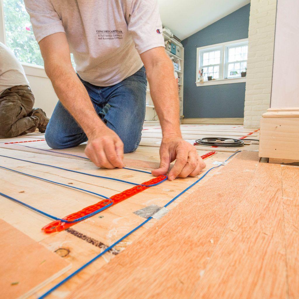 Electric Radiant Floor Heating Under Wood Floors Radiant Floor Heating Radiant Heat Diy Wood Floors
