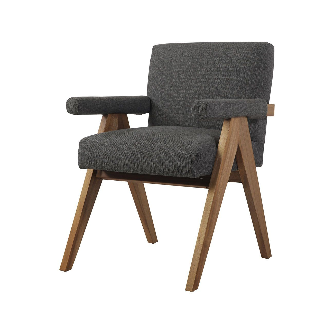 Jeanneret Dining Armchair Upholstered Dining Arm Chair