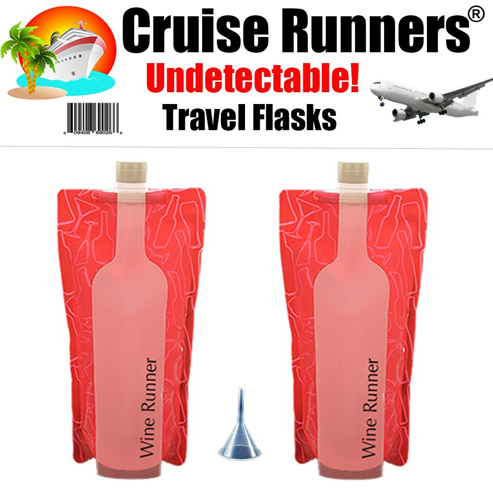No More Heavy Glass Wine Bottles In Your Suitcases No Glass Breakage Worries Each Holds One Full Bottle 750ml 2 Win Travel Flask Cruise Carnival Cruise Line