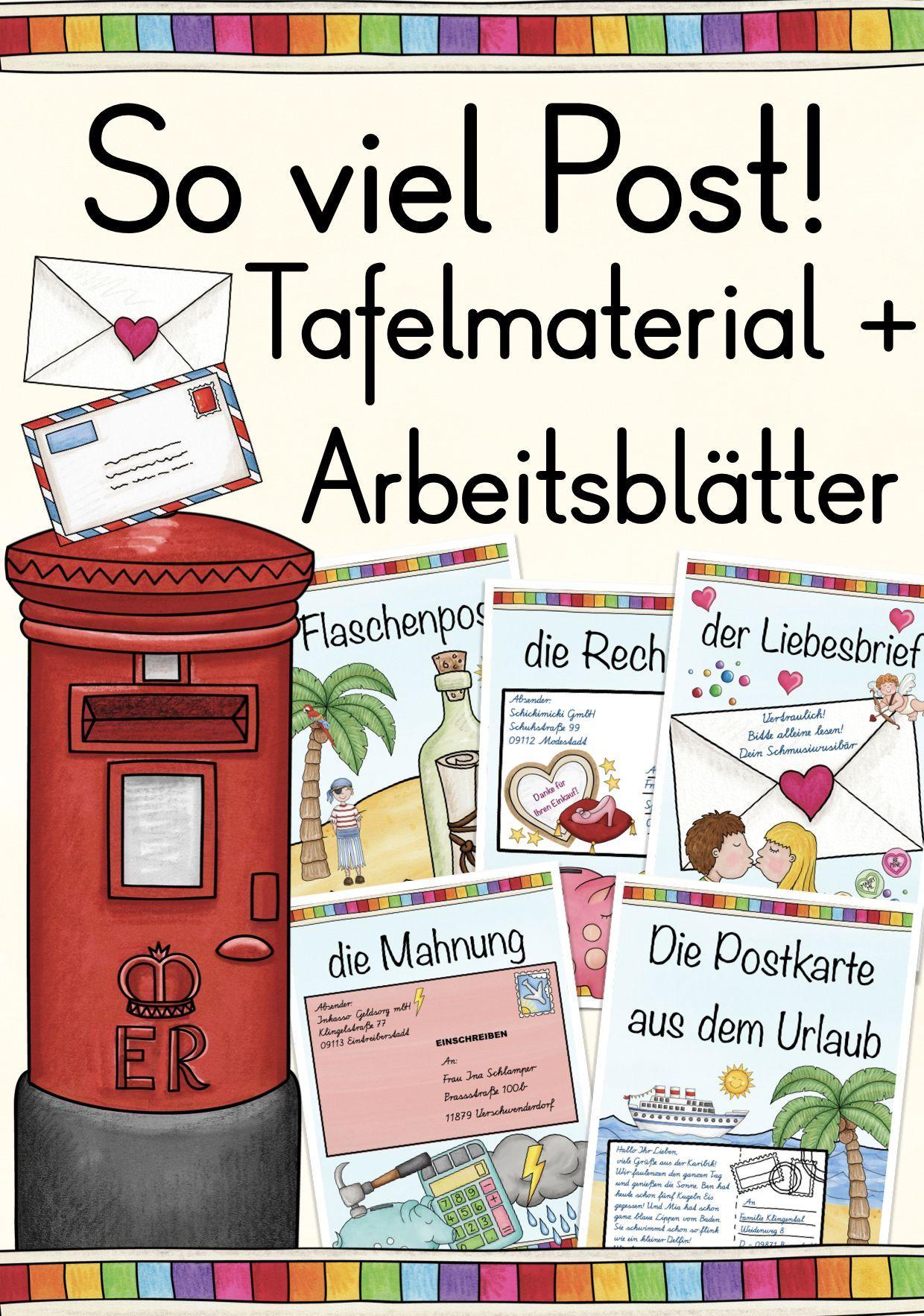 So Viel Post Postkarte Brief Tafelmaterial Unterrichtsmaterial In Den Fachern Daz Daf Deutsch Sachunterricht Brief Schreiben Grundschule Lehrmaterial Postkarte Schreiben