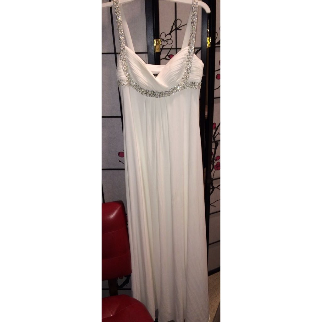Draped White Dress