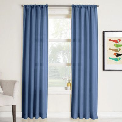Charlton Home Cy Solid Sheer Rod Pocket Single Curtain Panel Panel Curtains Curtains Printed Curtains