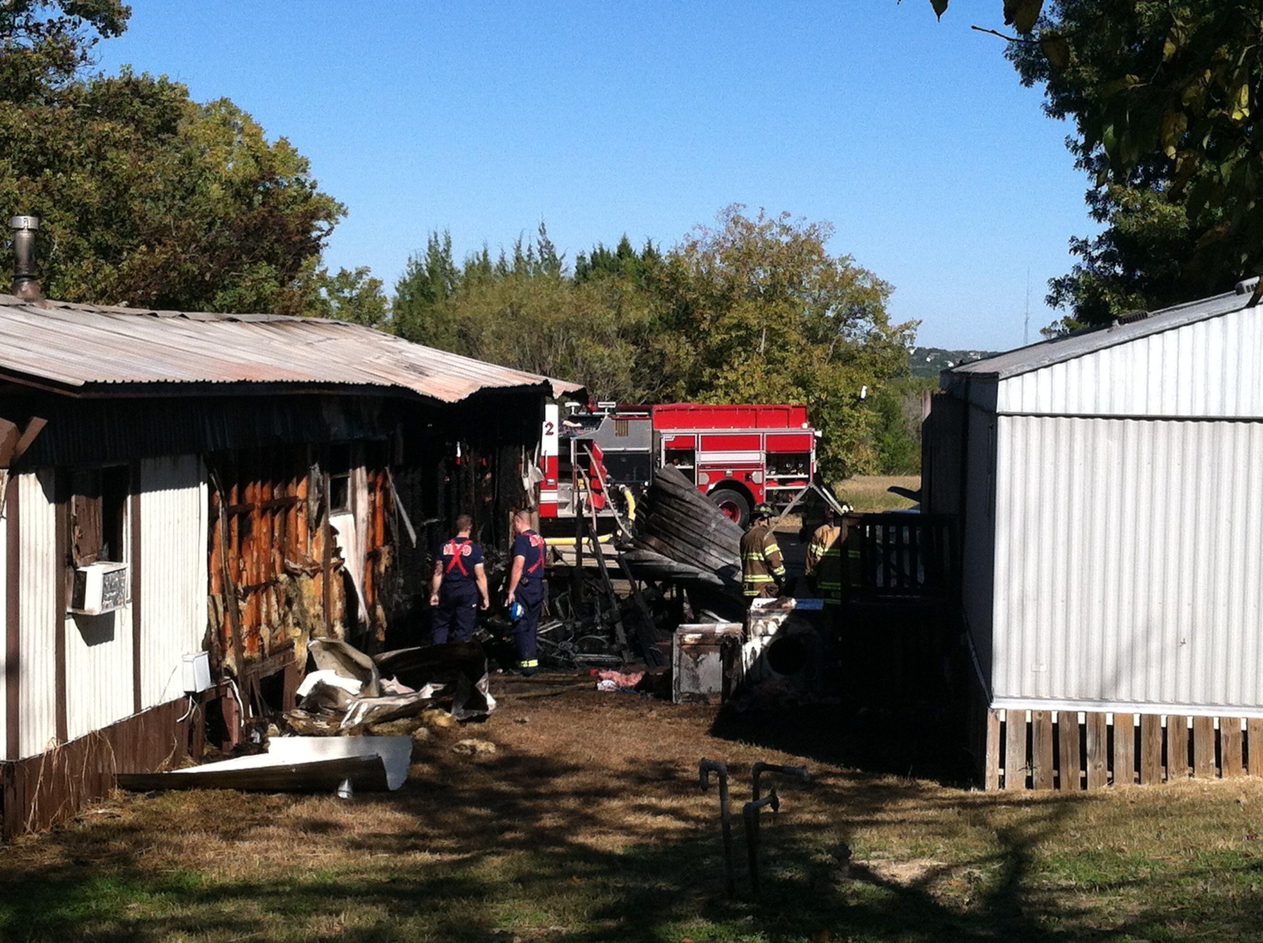 Fire destroys mobilehome damages another newbraunfels